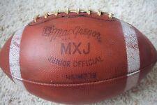 Vintg. MacGregor Mxj Junior Official Leather Football Midget League Garden State