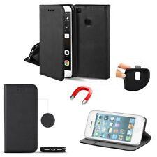 ^ HTC One A9S Buch Form Tasche Schutz Handy Hülle Book Case SMART Magnet SCHWARZ