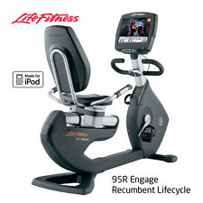 95R Engage Recumbent Cycle - With Digital Tuner- Life Fitness