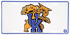 University of Kentucky Wildcats Mascot Metal Car License Plate Auto Tag Sign