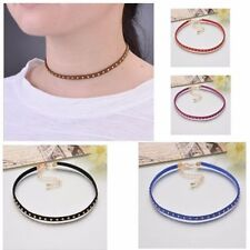Leather Chokers Chunky Costume Necklaces & Pendants