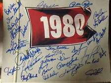 1980 Phillies World Series Flag 11 x 14 signed by 30 players All Possible Living
