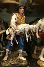 1 pastore landi 13 cm Pecoraro con pecora pecoraio  presepe crib shereped