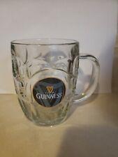Guinness Harp Tankard Beer Mug Thumbprint Dimpled Glass Ireland