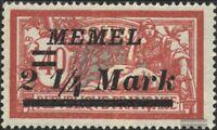 Memelgebiet 89 gestempelt 1922 Aushilfsausgabe