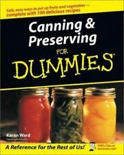 Canning & Preserving for Dummies Canning Book (2003, Paperback)