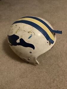 Vintage Rawlings Air Flo HC30 Football Helmet Pterodactyls Vultures Bird Decals