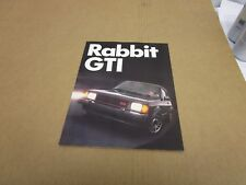 1983 83 Volkswagen VW Rabbit GTI sales brochure 4 page folder literature