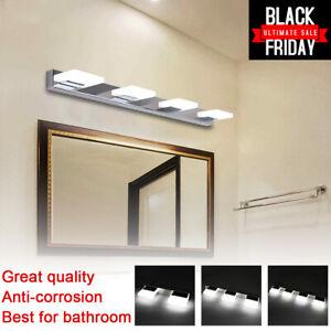 Modern Bathroom Vanity 2/3/4 LED Light Crystal Front Mirror Toilet Wall Lamp US