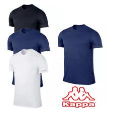 T-Shirt Uomo 100% Cotone Maglia Manica Corta Girocollo Scollo a V Slim Fit Kappa