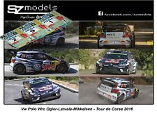 1/43 Rally Decal Addi Vw Polo Wrc Ogier Latvala Mikkelsen Tour de Corse 2016 Ixo