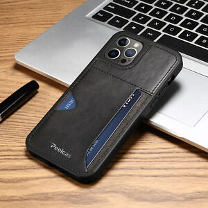For iPhone 12 Pro Max Shock Proof Card Pocket Comfortable Wallet Case