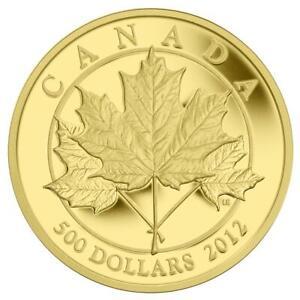 Kanada - 500 Dollar 2012 - The Glorious Maple Leaf (1.) - 5 Oz Gold PP