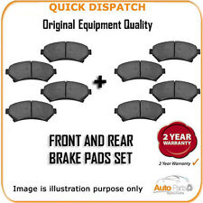 FRONT AND REAR PADS FOR TOYOTA AURIS 1.6 VVTI 12/2006-9/2009