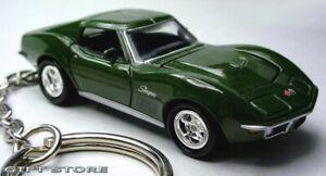 HTF KEY CHAIN 1968/1969/1970 DONNYBROOK GREEN CHEVY CORVETTE STINGRAY C3 NEW LTD