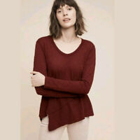 Left of Center Anthropologie Sunday Morning Tunic NEW NWT  XS Maroon Red