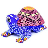 Handmade Alebrijes Oaxacan Copal Wood Carving Painted Folk Art Turtle Figurine