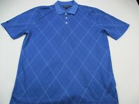 Brooks Brothers Mens Polo Shirt Blue Short Sleeve Logo Collared XL Golf Shirt