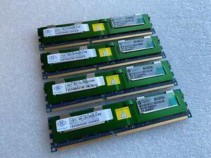 4 x HP 500205-071 8GB PC3-10600 DDR3-1333 Memory Nanya NT8GC72B4NB1NK-CG 32GB