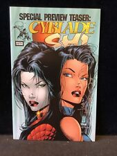 CYBLADE SHI SPECIAL PREVIEW TEASER VF/NM 1ST APP WITCBLADE Signed Juan Carlos