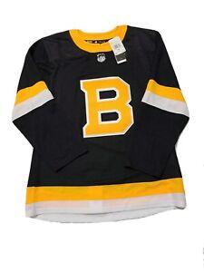 Boston Bruins Adidas Authentic Alternate NHL Hockey Jersey Mens Size 46 (ED7642)