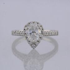 Pear Diamond Engagement Ring Platinum 1.27 carats Size I