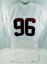 2009-15 Alabama Crimson Tide #96 Game Used White Jersey BAMA00272