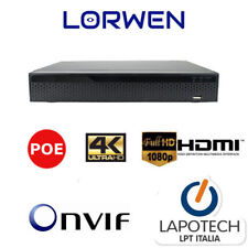 NVR POE INTEGRATO 16 CH 1080P INGRESSO HDMI ONVIF 8 CANALI H265 1000 GB 1TB