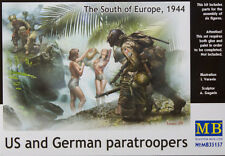 "US & GERMAN PARATROOPERS ""SOUTH EUROPE '44"" (6 FIG.) MASTER BOX 1/35 PLASTIC KIT"