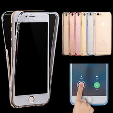 Front and Back Clear Full Protection TPU Gel Skin Case  For iPhone 5G 5S