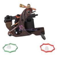 Pro Hand Assembled Iron 10 Wrap Coils Shader Tattoo Machine Gun US