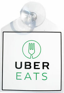 Eats decal display with strong suction cup