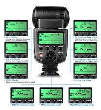 UK MAGAZZINO! cameraplus ® cpc580 E-TTL Flash Speedlite con schermo LCD per Canon SLR