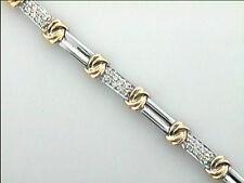 """Diamond Bracelet 14k Two Tone w/40-diamonds at 0.80ct total """"CLOSE-OUT"""""""