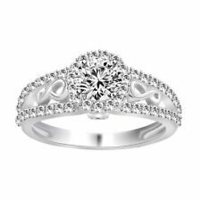 Silver Engagement Ring Free & Fast Shipiing 1.32 Ct Round Cut Cz White Sterling