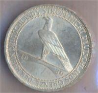 Deutsches Reich Jägernr: 345 1930 A vorzüglich Silber 1930 3 Reichsm (9157881