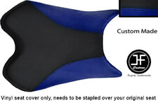 BLACK & R BLUE VINYL CUSTOM FITS YAMAHA 600 YZF R6 08-12 FRONT SEAT COVER ONLY