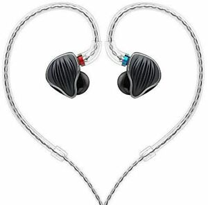 FiiO FH5 Quad-Driver Hybrid 1 Dynamic & 3 Knowles BA Monitors Headphone Black