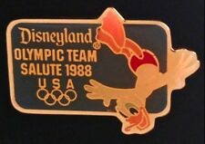 Disney Pin Badge~ Olympic Seoul ~ 1988 ~ Donald Duck Diving