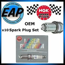 For Audi BMW Land Rover Porsche VW NGK Platinum x10 BKR6EQUP Spark Plug Set NEW