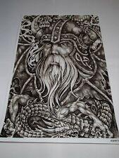Scandinavian Swedish Norwegian Viking & Dragon Poster Print #5032 Micah Holland