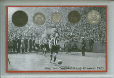 Sheffield United The Blades Vintage F.A Cup Final Winners Coin Fan Gift Set 1925