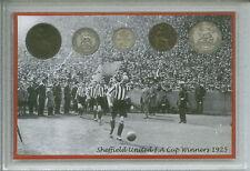 SHEFFIELD UNITED le lame vintage della coppa F. A. finale vincitori MEDAGLIA Fan Set Regalo 1925