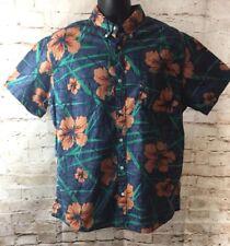 Urban Pipeline Button Down Short Sleeve Shirt Hawaiian Print Navy Floral XL