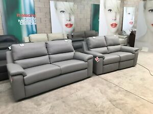 BRAND NEW Grey TAYLOR Leather G PLAN Electric Reclining Sofas Sofa Quality UK