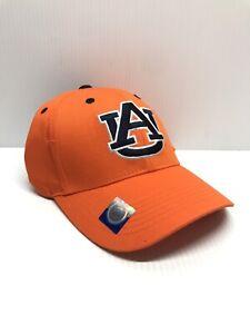 Auburn Tigers Logo Cap Adjustable Collegiate Hat Team Orange NCAA Headwear