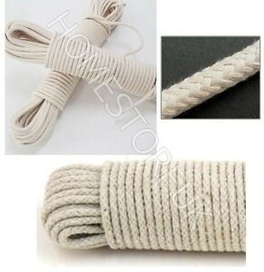 4MM COTTON ROPE PULLEY CLOTHES DRYER WASHING PULLEY LINE TRADITIONAL TWINE JUTE