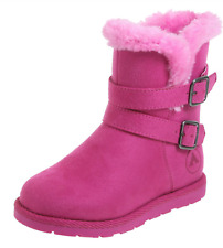 AIRWALK NIA Girls Shoes Toddler PINK ANKLE BOOTS Rain WINTER Snow FUR Size 8 NEW