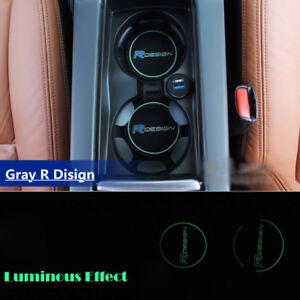 for Volvo Gray R design Car Cup Holder Mat XC60 V50 V70 S60 S80 XC70 V60 V40 C30