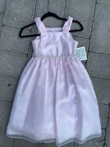 NEW $72 BONNIE JEAN pink dress little girl 6 6X party wedding fancy